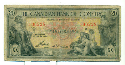 The Canadian Bank of Commerce 1935 $20 VG 8 No. 106228