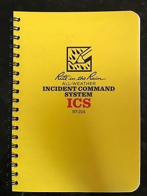 Rite in the Rain Incident Command System Notebook
