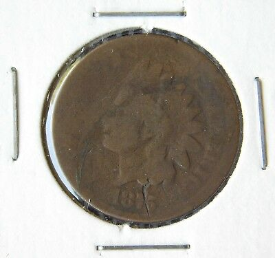 1875 INDIAN HEAD CENT PENNY   AG About Good