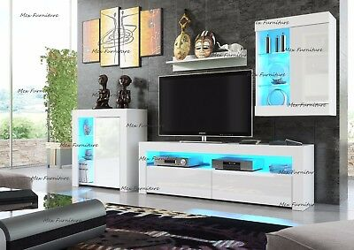 Cabinet Wall Unit Living Room TV Set Cupboard Led Display Furniture Stand LED