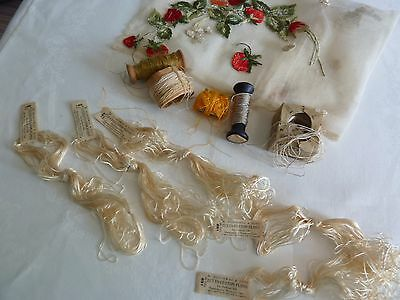 Collection of Antique Vintage Embroidery & Crochet Threads M. Heminway & Sons