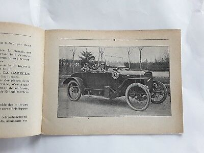 LA GAZELLE petit catalogue d'origine voiturette cyclecar