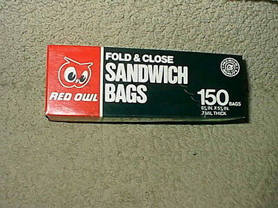 Vintage Red Owl Grocery Food Store Sandwich Bags Box Full Not Open