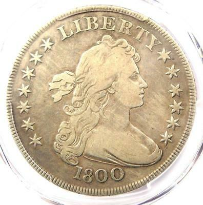 1800 Draped Bust Silver Dollar $1 - PCGS Fine Details - Rare Certified Coin!