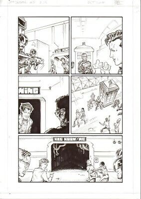 Boo Cook   DR WHO  5p15   original drawing       2000AD