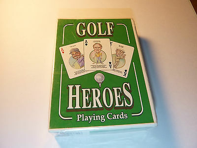 Rare Golf Heroes Playing Cards New Factory Sealed WOW!! Palmer Nicklaus Woods!