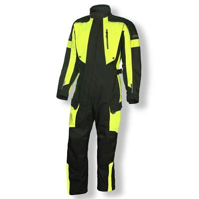 Olympia Odyssey Mens One Piece Suit Black Neon Yellow