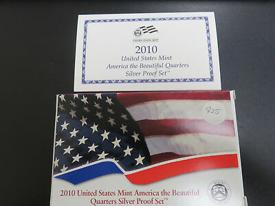 2010 Quarter Silver Proof Set In Mint Packaging