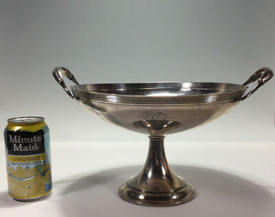 Huge Woven Aesthetic c1871 Gorham Sterling Silver Compote Centerpiece Bowl 947g