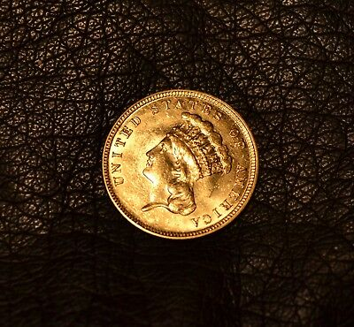 Rare Gold Indian Princess $3  Indian Gold 1882 For Jewelry Filler Type Coin