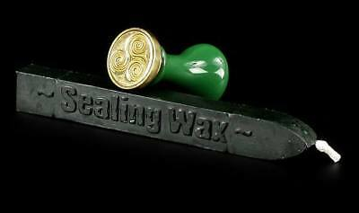 Celtic Seal with green Wax - Magic Ritual Letter Postmark