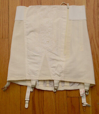 Vintage SEARS Open Bottom Girdle 6 Attached Garters Size 32