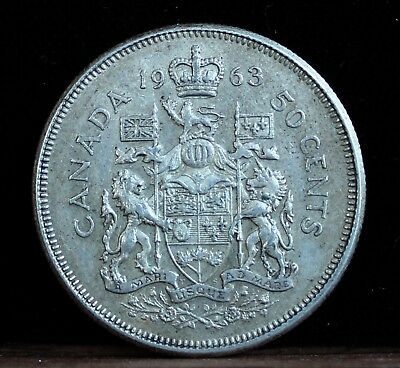 CANADA 1963 FIFTY CENTS ¤  SILVER COIN  ¤ FREE SHIPPING to Canada ¤