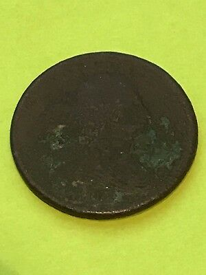 SCARCE - 1807 Half Cent Liberty Draped Bust Rare Type Coin Early U.S. Low Grade