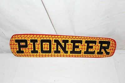 "Vintage 1940's Pioneer Seed Ear Corn Farm 14"" Metal Sign~Nice"