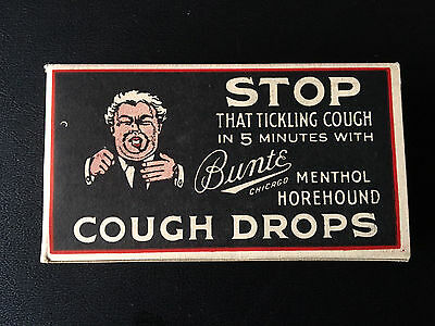 Vintage 1912 Full box of Bunte Cough Drops - Never Opened!