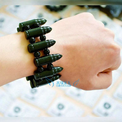 Exquisite Chinese hetian jade hand-made bullets natural jade bracelets bangle -