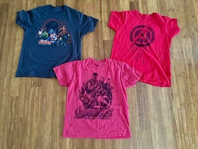 Lot of 3 Mens Logo Graphic t-shirts Marvel Avengers Captain America L Large