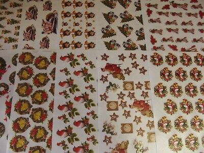 TBZ Pack of 10 Assorted Crystal Christmas Decoupage Sheets