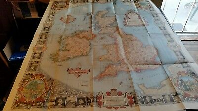1937 National Geographic map of The British Isles designed by C.E. Riddiford