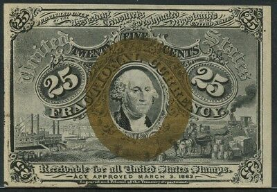 Fr1283 25¢ 2Nd Issue Fractional Currency W/o Surcharges Gem Cu Cv $500 Bt9912