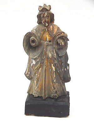 18th Century Spanish Colonial Santos Hand Carved Virgin Mary Catholic Mission