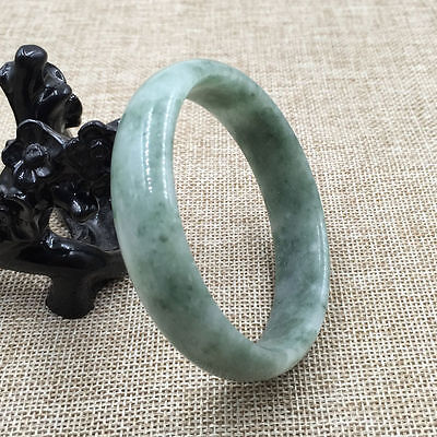 New Chinese Beautiful Genuine Natural Green Jade Gems Bangle Bracelet 62mm
