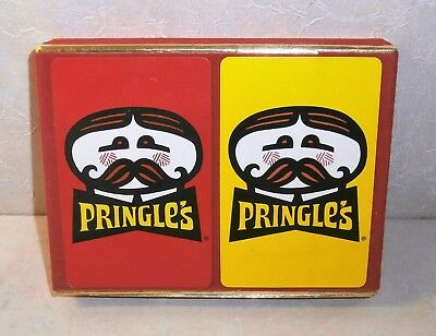 Vintage New old stock Sealed Pringle's Double Deck Playing Cards Velveteen Case