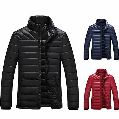 Men's Winter Down Jacket Lightweight Packable Outwear Puffer Warm Coats