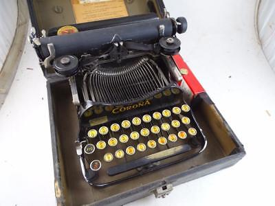 Antique Corona Folding Traveling Portable Typewriter No 3 Vintage Retro Old