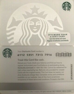 "New 2015 Starbucks ""pearl Siren"" Gift Card Mint No Value"