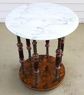 Stunning Antique Vintage Italian Marble Side End Corner Table