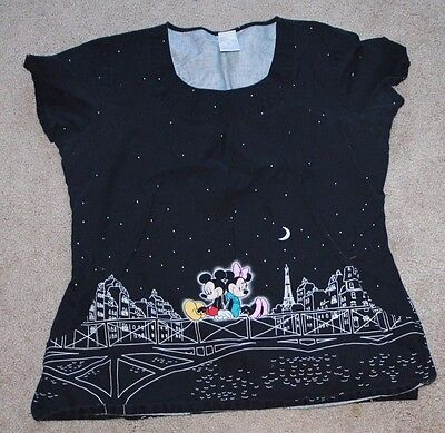 Womens Scrubs size medium (Disney and Skechers - various prints)