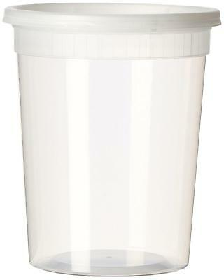YW Plastic Soup/Food Container with Lids (12), 32 oz.