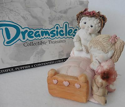 Dreamsicles Figurine in Box NOW I LAY ME Bedside Prayer 1995 Signed Kristin
