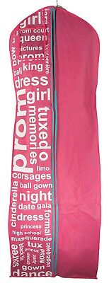 Gusseted Garment Bag  For Prom Dresses and Bridal Wedding Gowns  Travel Foldin