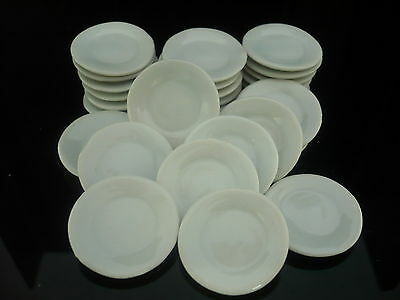 20 White Octagonal Plate Dollhouse Miniatures Ceramic Supply