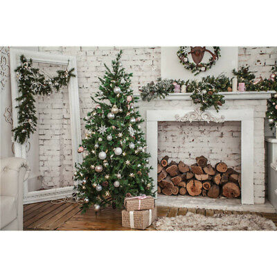 Christmas Tree Backgrounds Props Vinyl 7x5FT Photo Studio Photography Backdrops