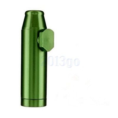 Metal Bullet Snuff Dispenser Snorter Rocket Shape Durable Aluminum Nasal CG