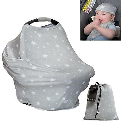 Nursing Breastfeeding Cover Scarf - Baby Car Seat Canopy, Shopping Cart,...