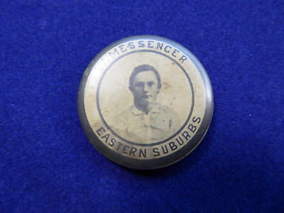 Vintage Rugby League Badge, Wally Messenger - Eastern Suburbs