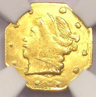 1859 Liberty 25C California Gold Quarter BG-705 R6+. NGC UNC (BU MS) - Rarity-6+
