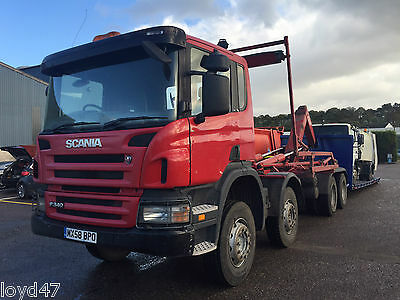 2008 58 Scania 8x4 VDL Hooklift with sheet low360klms warranted 340hp 32ton