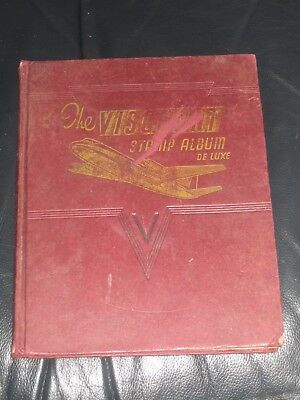 viscount stamp album with world stamps
