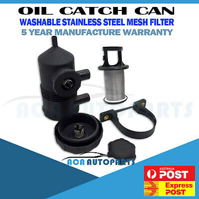 Machter Oil Catch Can 200 Pro for Mitsubishi Triton Challenger Pajero Stainless