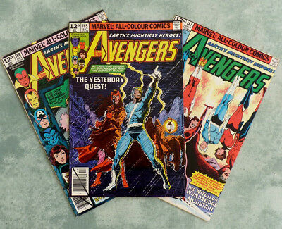 Marvel Comics The Avengers The Yesterday Quest #185 #186 #187 Wundagore