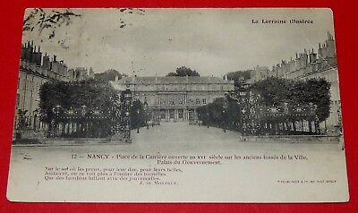 Cpa Carte Postale 1905 Nancy Place De La Carriere Palais Du Gouvernement 54