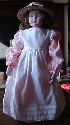 """K & R 114 Reproduction of an antique doll on soft body. Approx 19"""" tall"""