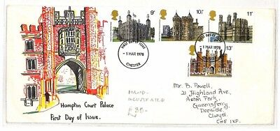AO246 1978  Hampton Court  Palace Hand Illustrated First Day Issue {samwells}