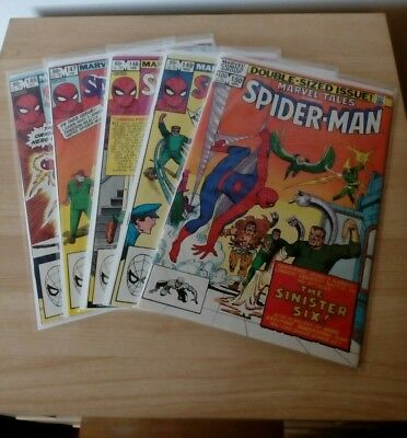 Marvel tales spiderman #146 #147 #148 #149 #150 bundle lot Ditko Stan Lee
